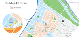 A map of the College Hill Corridor